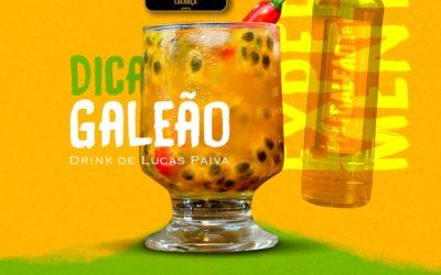 Drink com Galeão Gabriela e Maracujá.